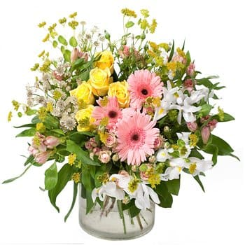 La Besiddelse online Blomsterhandler - Elskede Blossoms Mothers Day Bouquet Buket