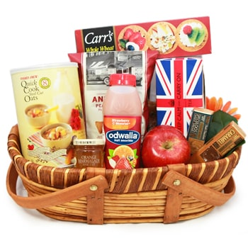 Moscow flowers  -  British Breakfast Baskets Delivery