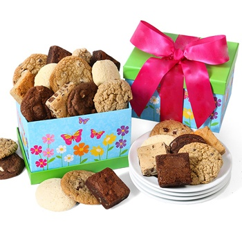 Los Angeles flowers  -  Brownie Assortment Baskets Delivery