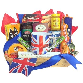 San Francisco blommor- Bundle of Britain Basket korgar Leverans