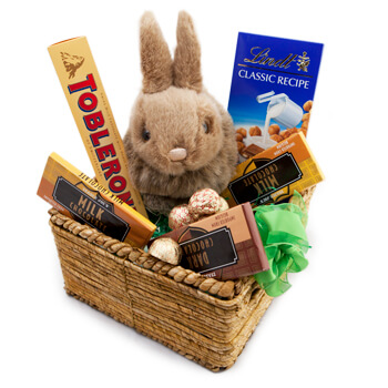 Oslo flowers  -  Bunnys Favorite Treats Baskets Delivery