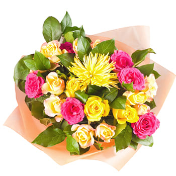 Tajikistan online Florist - Bursts of Sunshine Bouquet
