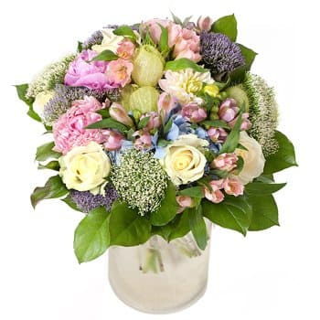 Achacachi flowers  -  Butterfly Garden Bouquet Flower Delivery