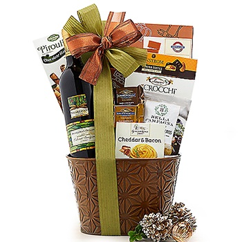 Oakland flowers  -  California Cabernet Gift Basket Baskets Delivery