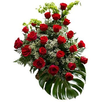 Hungary flowers  -  Cascading Roses Baskets Delivery