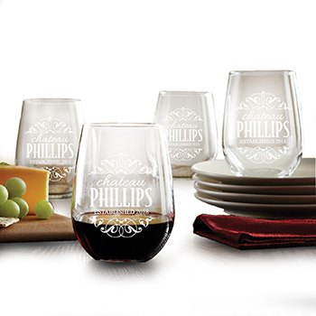 Washington flowers  -  Chateau Me Wine Glass Set Baskets Delivery