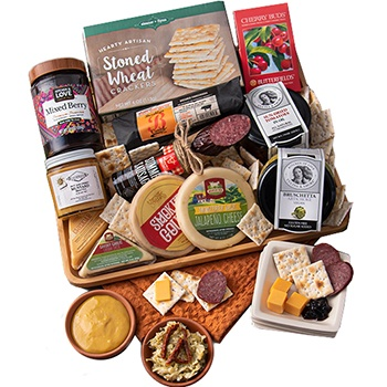 Los Angeles blomster- Cheer of Cheese Gavekurv kurver Levering