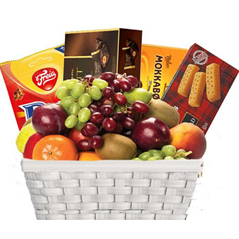 Norway flowers  -  Chocolate, Biscuits, and Fruit, Oh My Baskets Delivery!