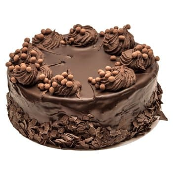 Novosibirsk bunga- Chocolate Nutty Cake Baskets Penghantaran