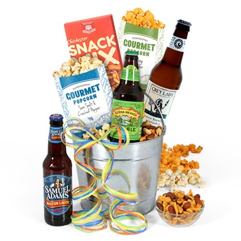 Long Beach flowers  -  Beer Party Baskets Delivery