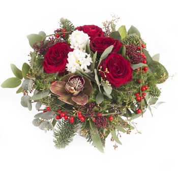 Oslo online Florist - Christmas In Bloom Bouquet