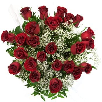 Guadeloupe flowers  -  Classic Long-Stem Roses Flower Bouquet/Arrangement