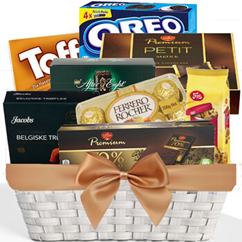 Norway flowers  -  Confectionary Care Package Baskets Delivery