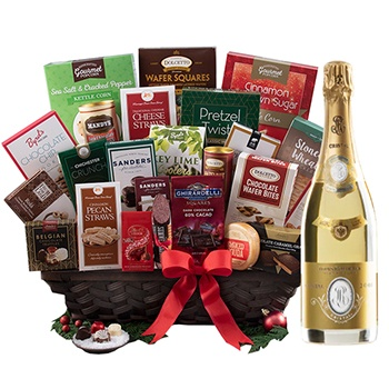 Boston, United States online Florist - Cristal Champagne with Gourmet Basket Bouquet