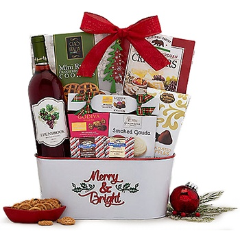 Arlington flowers  -  Crimson Pleasure Baskets Delivery