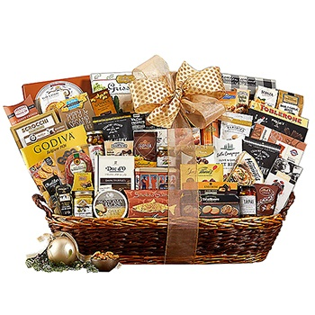 Long Beach flowers  -  Deluxe Package Baskets Delivery
