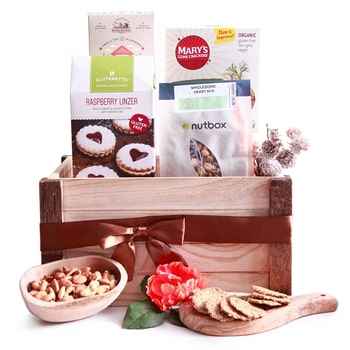 Oslo online Florist - Dairy and Gluten Free Goodies Hamper Bouquet