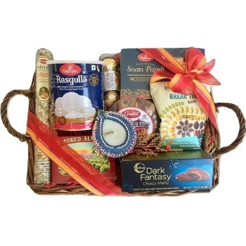 Los Angeles flowers  -  Diwali Greetings Tray Baskets Delivery