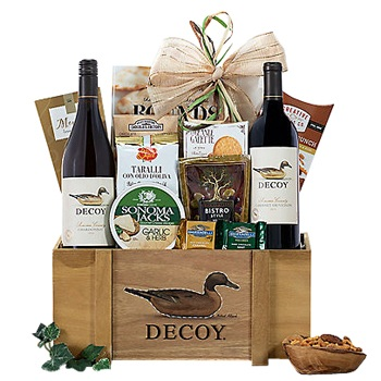 Washington flowers  -  Duckhorn Wine Baskets Delivery