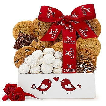 Washington flowers  -  Romantic Cookies Baskets Delivery