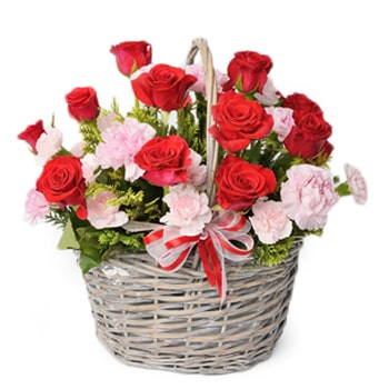 Moscow flowers  -  Eternal Roses Baskets Delivery