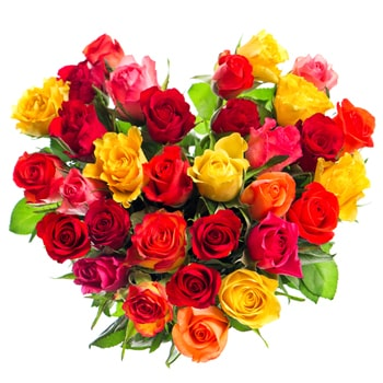Uzbekistan flowers  -  Flowery Heart Flower Bouquet/Arrangement