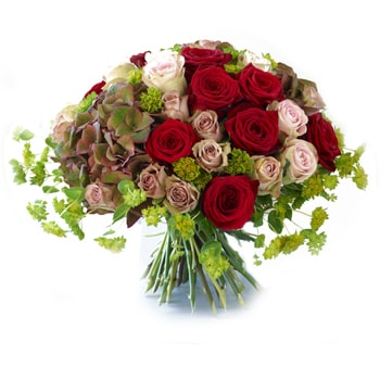 Oslo online Florist - Flushed Flowers Bouquet