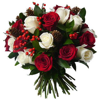 Pau blomster- Forest of Roses Bouquet Blomst Levering