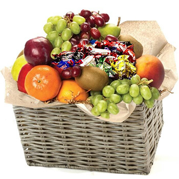 Norway flowers  -  Fresh Fruit and Chocolate Basket Baskets Delivery