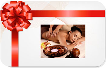 online Florist - Gift Certificate for a Full Body Massage Bouquet