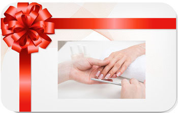 Pau online Florist - Gift Certificate for Manicure and Pedicure Bouquet