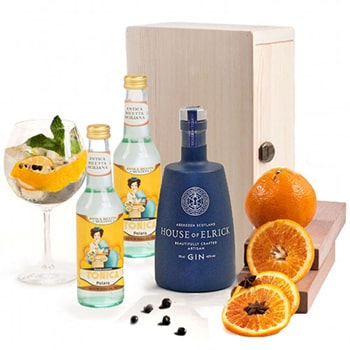 Bradford flowers  -  Gin and Tonic Gift Set Flower Delivery