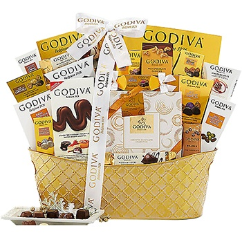 Los Angeles flowers  -  Godiva Chocolate Feast Baskets Delivery