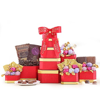 USA, United States online Florist - Godiva Passion Tower Bouquet