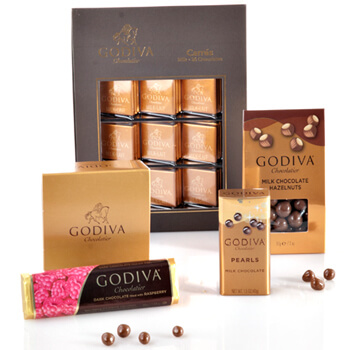 Rest of Norway flowers  -  Gold Sampler by Godiva Flower Delivery