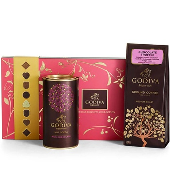 Los Angeles flowers  -  Good Morning Godiva Set Baskets Delivery
