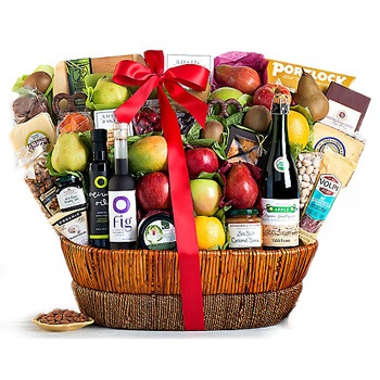 Los Angeles blomster- Gourmet Christmas Hamper kurver Levering