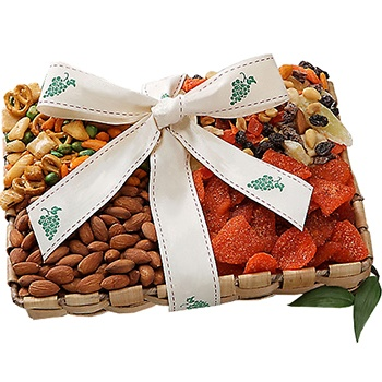 Los Angeles flowers  -  Gourmet Crunch Mixed Nuts Tray Baskets Delivery