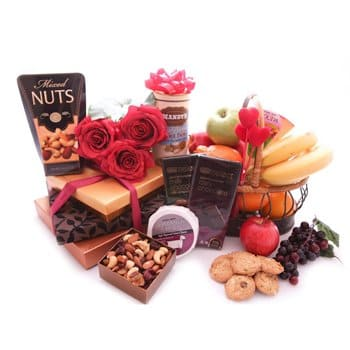Fastiv flowers  -  Gourmet Delight Gift Set Flower Delivery