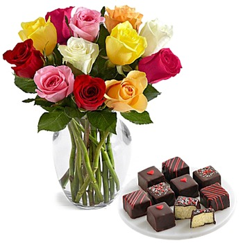 Los Angeles flowers  -  Gourmet Valentine Baskets Delivery
