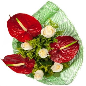 Mazkeret Batya flowers  -  Heart and Soul Bouquet Flower Delivery