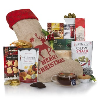Geneve Online Florist - Holiday Happiness Gift Box Bukett