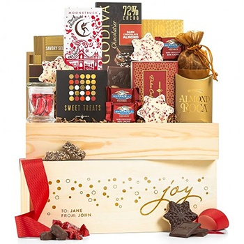 Los Angeles blomster- Holly Jolly Chocolate Hamper kurver Levering