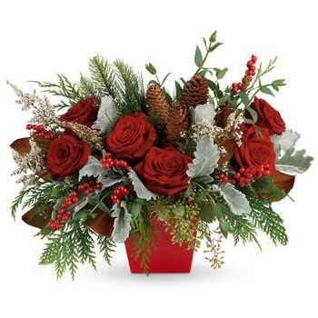 Houston flowers  -  Holly Jolly Holiday Bouquet Baskets Delivery