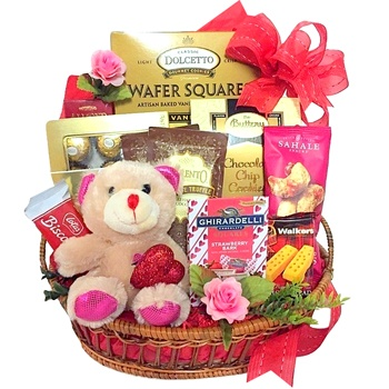 Houston flowers  -  Hugs And Chocolate Baskets Delivery