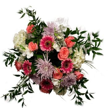 Tibu flowers  -  Colors Of The Heart Bouquet Flower Delivery