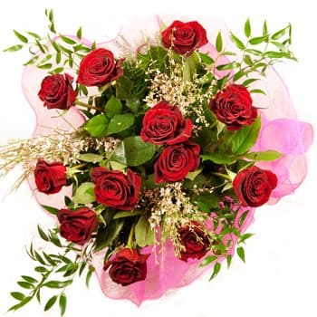Ameca flowers  -  Roses Galore Bouquet Flower Delivery