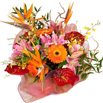 Jamaica flowers  -  Sunny Sentiments Bouquet Flower Delivery