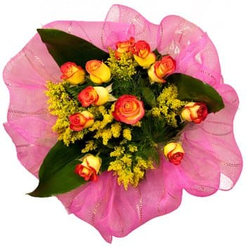British Virgin Islands flowers  -  Sunny Days Roses Flower Bouquet/Arrangement