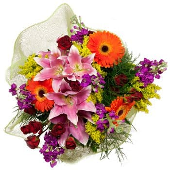 Bordeaux flowers  -  Heart Harvest Bouquet Flower Delivery